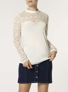 Ivory Embroidered Victoriana top - Dorothy Perkins