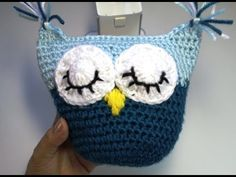 ▶ #Crochet owl pillow - subtitulos en Espanol - YouTube