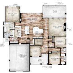 aspen plan by sopris homes main floor plan