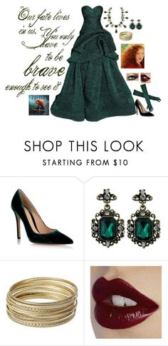 """""""Modern princess: Merida"""" by rebecca41622 ❤ liked on Polyvore featuring Gianvito Rossi, Monique Lhuillier, Steve Madden, Charlotte Tilbury and modern"""