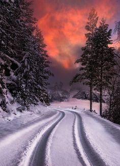 Photography winter landscape sky ideas for 2019 Winter Szenen, Winter Magic, Winter Road, Winter Night, Beautiful World, Beautiful Places, Beautiful Pictures, Winter Photography, Nature Photography