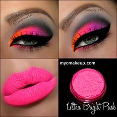 Single Eyeshadow Pigments - MYO Eyeshadow Pigment Ultra Bright Pink Mica Loose Powder Cosmetic Makeup (Powered by CubeCart)