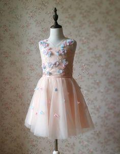 Kinderkleidung - Blumenmädchen Kleider Princess Geburts- blush rosa - ein Designerstück von Dressromantic bei DaWanda