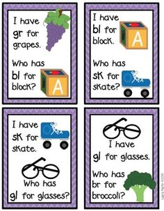 I Have, Who Has-Blends and Digraphs
