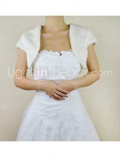 Fine Short Sleeve Faux Fur Evening/Wedding Jacket/Wrap - USD $ 29.99