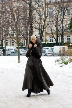 Elena Perminova wearing Ulyana Sergeenko