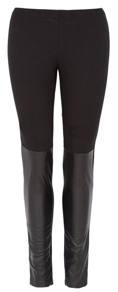 """Hells Leather"" French Connection Leggings in Black"
