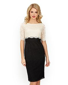 DYNAMIC DUO BLACK AND WHITE LACE DRESS