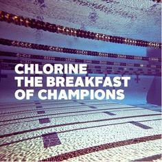 Chlorine The Breakfast of Champions---just keep swimming just keep swimming, what do we do? we swim swim swim. I Love Swimming, Swimming Diving, Scuba Diving, Swimming Sport, Competitive Swimming, Synchronized Swimming, Swimmer Quotes, Swimming Motivation, Inter Club