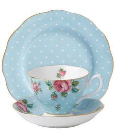 Blue Polka Vintage - Royal Albert