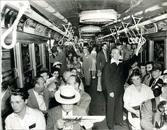the first trip of the red line between harvard and central squares, cambridge, ma, 1948
