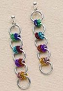 Tutorial: Easy Colorful Chain Maille Earrings · Jewelry Making | CraftGossip.com love it! must try! #ecrafty