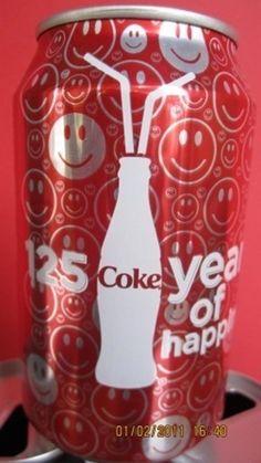 Coca-Cola - 2011 Cambodia 125 Years of Coca-Cola Coca Cola Vintage, Coca Cola Can, Always Coca Cola, Coca Cola Bottles, Coke Cans, Pepsi, Coca Cola Marketing, Coca Cola Merchandise, Sodas