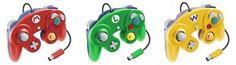 GameCube Club Nintendo Mario/Luigi/Wario controllers limited edition (2005)