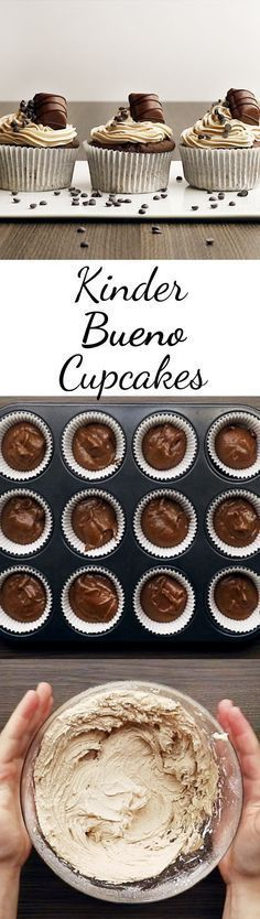 Kinder-Bueno-Cupcakes – so geht's Will someone please bake for me? Related posts: Kinder-Bueno-Cupcakes – so geht's Kinder Schoko-Bon-Cupcakes Kinder-Bueno-Kuchen ohne Backen Backen Kinder Bueno Kuchen Rezepte Cupcake Recipes, Baking Recipes, Cupcake Cakes, Snack Recipes, Dessert Recipes, Brownie Recipes, Fall Desserts, No Bake Desserts, Easy Snacks