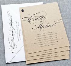 NEW Caitlin Kraft Booklet Wedding Invitation by CricketPrinting