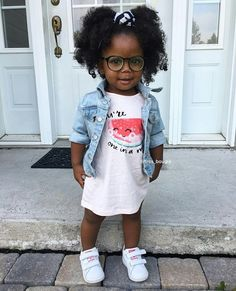 I love this lil cuties look Hair Milk, Cute Black Babies, Honey Hair, Color Your Hair, Protective Styles, Cool Hairstyles, Natural Hair Styles, Kids Fashion, Shirt Dress