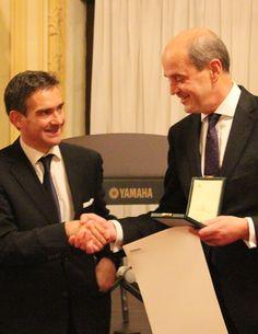 Italian Ambassador (left) and Ignacio Jaquotot (President and CEO VUB)