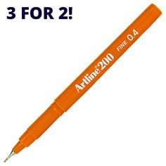 Artline 200 Fineliner Pen In stock now for fast UK and worldwide shipping. 3 For 2, Fineliner Pens, Personal Care, Objects, Self Care, Personal Hygiene