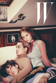 Krystal, Taemin, and Kai continue the skinship in more pictures from 'W Korea'! | allkpop.com