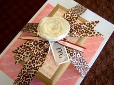 white gift box from dollar store and scrapbook paper/embellishments make this cute gift box!