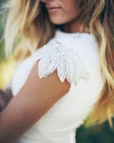 modest wedding dress with border sleeves from alta moda bridal.