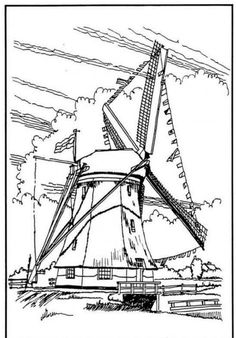 A Giant Windmills In Dutch