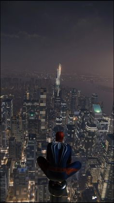 My Character, Seattle Skyline, Empire State Building, Ps4, Spiderman, Wallpaper, Travel, Wallpapers, Spider Man