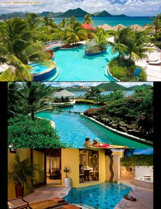 Almost positive this is where we are taking our honeymoon! Grande St. Lucian in St. Lucia!