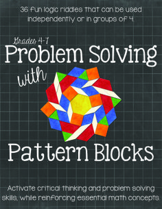 Grades 4-7. Students must analyze four clues in order to correctly arrange six different Pattern Blocks in a specific order. These tasks are designed to activate and expand students' logical reasoning skills while reinforcing various geometry concepts. $