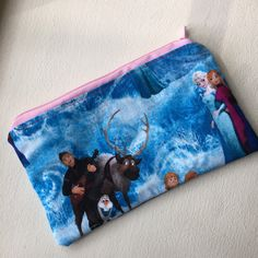Frozen Zipper Pouch by CaughtRedThreaded on Etsy