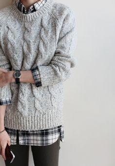 Grey knit with layers