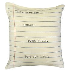 Sugarboo Designs Thinking of You Pillow