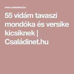 55 vidám tavaszi mondóka és versike kicsiknek | Családinet.hu