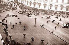 """Julius Caesar, the """"dictator for life"""" of the Roman Empire, is murdered by his own senators at a meeting in a hall next to Pompey'. Vladimir Lenin, Russian Revolution 1917, February Revolution, History Online, Open Fires, Imperial Russia, Historical Pictures, End Of The World, World History"""