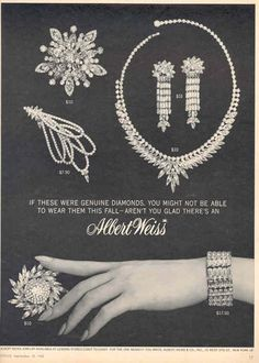 Albert Weiss 'If these were genuine diamonds...'