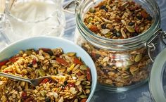 Gail's Granola – Trim Down Club New Recipes, Favorite Recipes, Healthy Recipes, Recipies, Sugar Free Granola, Recovery Food, Carbs Protein, Eating For Weightloss, Gluten Free Oats