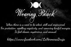 Wearing Black By La Hermosa Bruja
