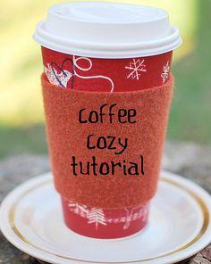 coffee cozy tutorial by newgreenmama, via Flickr