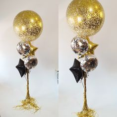 Clear Balloons, Gift Bouquet, Balloon Gift, Shimmer N Shine, Balloon Bouquet, Glitz And Glam, Confetti, Bouquets, Congratulations