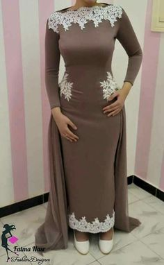 Coffee colour dress for evening