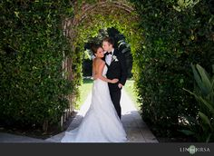 Our Lady Queen of Angels Catholic Church & Fairmont Newport Beach Hotel Wedding | Tres Chic Affairs | Lin & Jirsa Photography |Design Visage Hair and Makeup | Bride| First Look