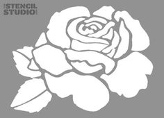 Reusable Rose Flower Wall Stencils - Traditional floral stencil design - Update Home Decor with a Rose Country Cottage look. DIY painting rose stencil for upcycling furniture The Stencil Studio Rosa Stencil, Stencil Art, Flower Stencils, Drawing Stencils, Stenciling, Wall Stencil Patterns, Stencil Designs, Stencil Templates, Embroidery Designs