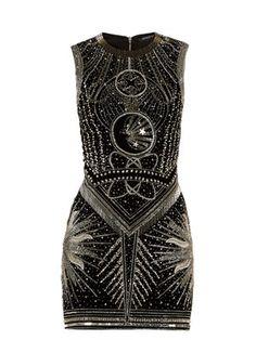 Crystal-embellished mini dress   Balmain   MATCHESFASHION.COM
