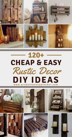 120 Cheap and Easy DIY Rustic Home Decor Ideas rustic house 120 Cheap and Easy Rustic DIY Home Decor Diy Home Decor Rustic, Rustic Farmhouse Decor, Easy Home Decor, Handmade Home Decor, Cheap Home Decor, Diy Decorations For Home, Kitchen Rustic, Diy Projects Rustic, Cheap Rustic Decor