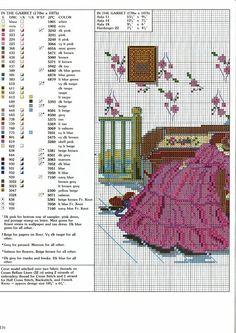 0 point de croix robes anciennes - cross stitch old dresses in the garret part 1