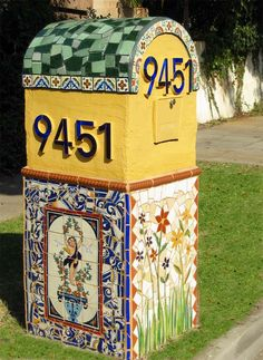 Image detail for -... fabulous spanish house on sunset blvd this mosaic mailbox was designed  mosaiccouture.com