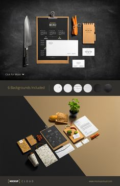 Restaurant & Bar /Stationery Mock-Up by Mockup Cloud on Creative Market