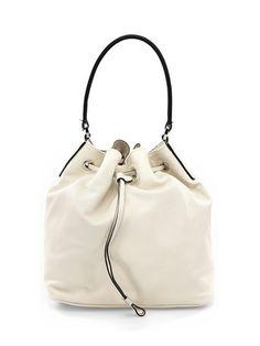 GIANNI CHIARINI - Borse - Accessori - Borsa a secchiello con tracolla e dettagli silver. Misure 26 x 29 cm. - LATTE - € 139.00