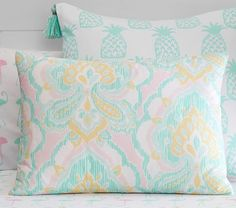 Puffy Ikat Quilted Bedding